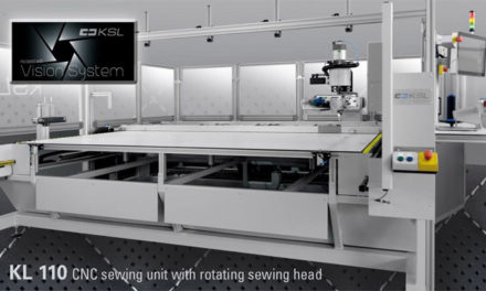 PFAFF showcase CNC Sewing unit with intelligent vision system