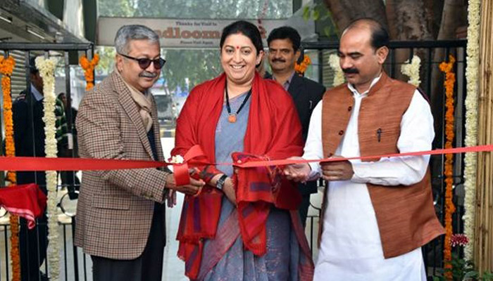 Smriti inaugurates handloom and allied projects