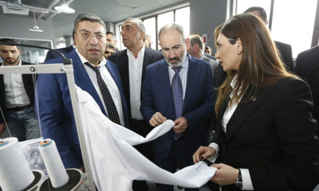 Armenian PM attends opening of clothing factories