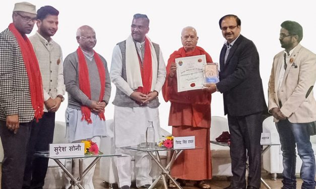 EPCH team felicitated for Skilling Mana artisans, the last Indian Village